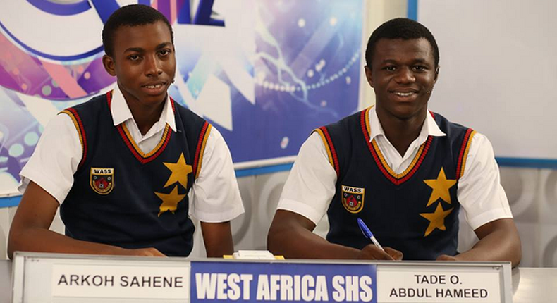 Contestants of 2018 NSMQ from WASS