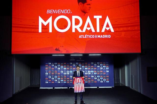 Alvaro Morata na predstavljanju u Atletiku