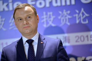 Duda w Szanghaju: Polska chce wzmocnienia relacji gospodarczych z Chinami