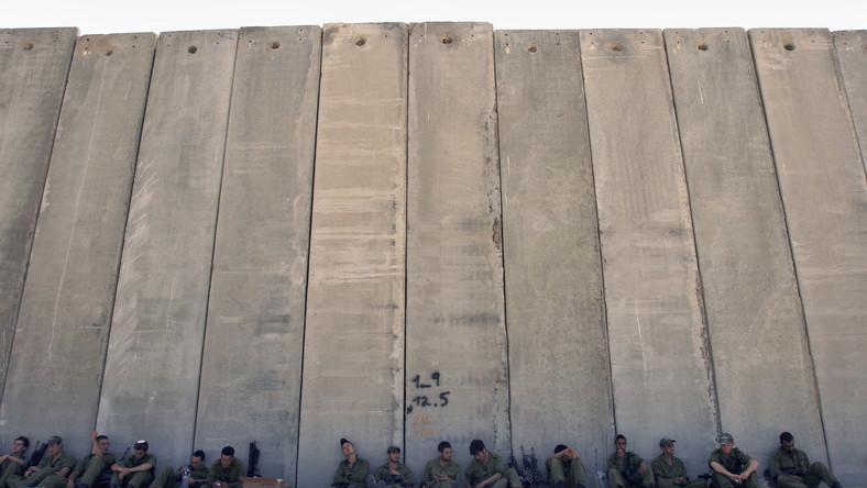 Mur oddzielający Strefę Gazy od Izraela
