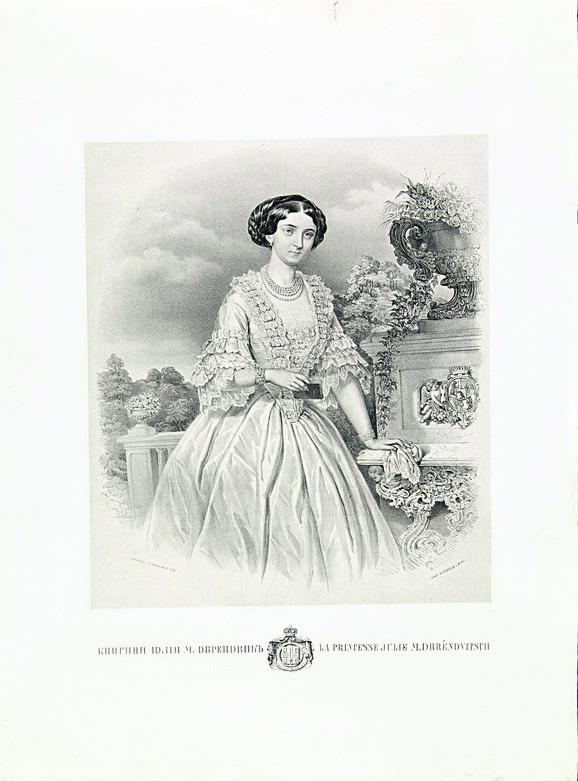 Julija Obrenović, 1854.