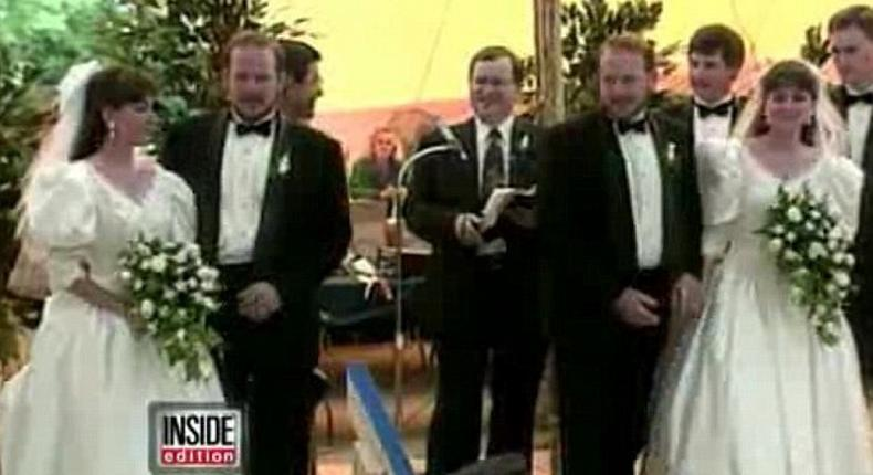 Phil and Doug, who have lived together for all of their lives, met Jena and Jill Lassen at the festival in 1991 and were immediately drawn to one another, marrying two years later