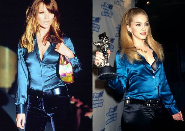 1995: Kate Moss na wubiegu Gucci oraz Madonna z nagrodą Video Music Awards