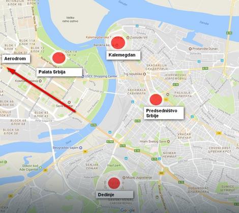 Lokacije koje će Erdogan sigurno posetiti