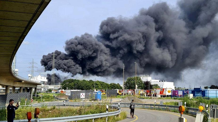 Wybuch w zakładach chemicznych w Leverkusen