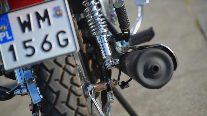 Motocyklowa tablica rejestracyjna