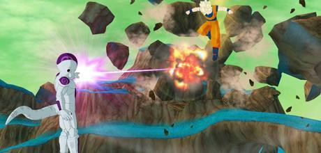"Screen z gry ""Dragon Ball: Raging Blast"""