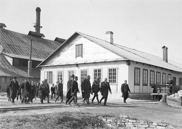 """Huta Szkła """"Niemen"""" w 1929 roku."""