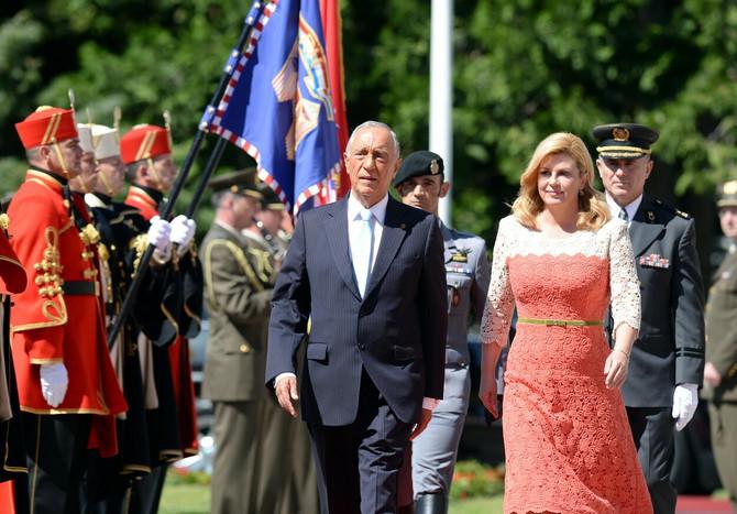 Kolinda sa predsednikom Portugalije