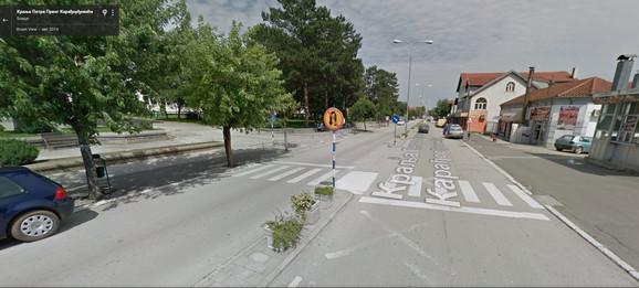Ulica Kralja Petra Karađorđevića u kojoj se dogodila tragedija
