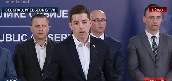 Marko Đurić u obraćanju nakon jučerašnjeg incidenta