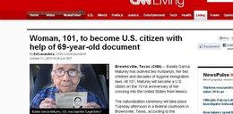 Po 100 latach dostała obywatelstwo USA!