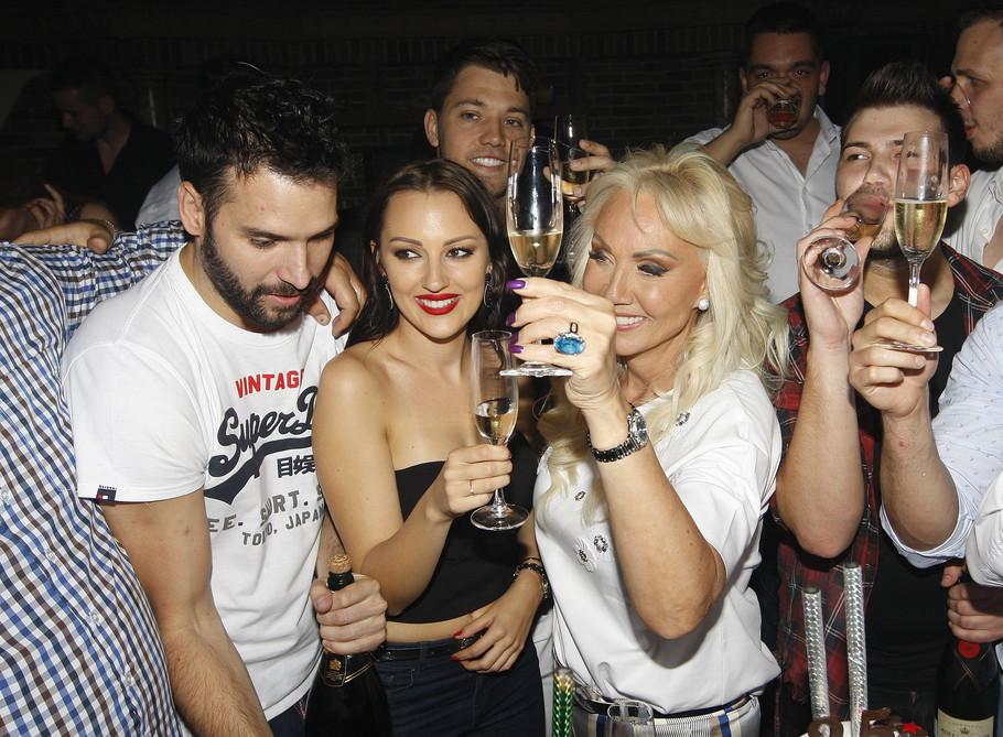 Aleksandra Prijović, Filip Živojinović, Lepa Brena, Boba Živojinović i Stefan Živojinović