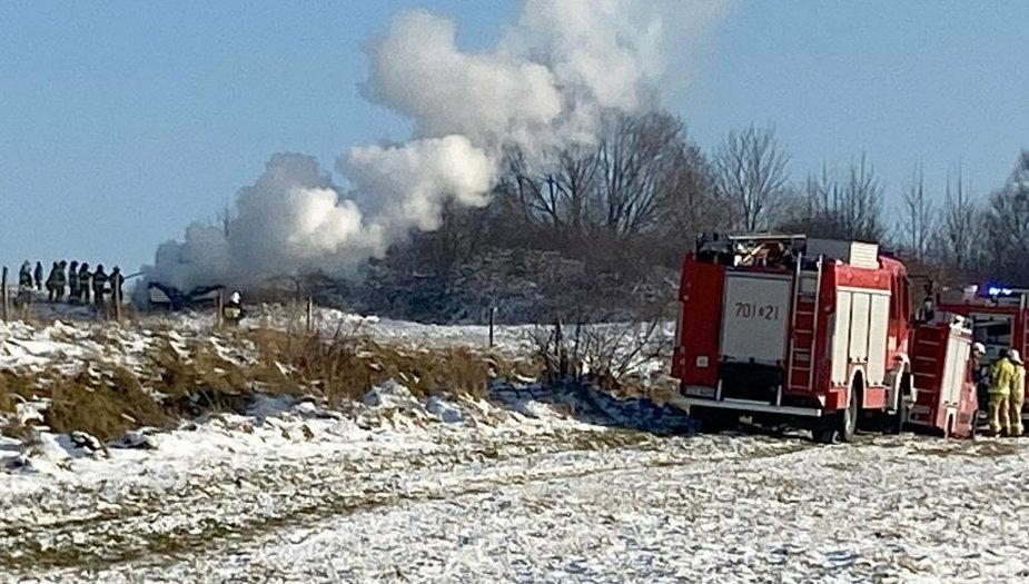 Strażacy gasili przyczepę. Podpalacz w areszcie