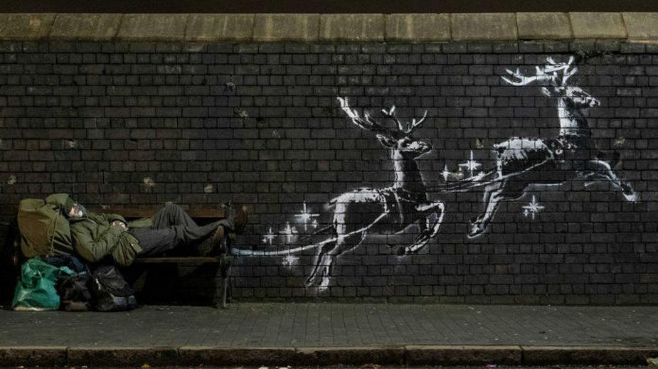 Mural Banksy'ego w Birmingham