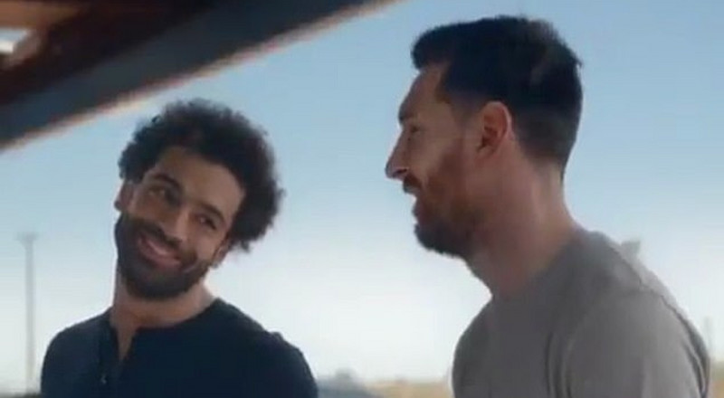Lionel Messi and Mo Salah face off in hilarious ad