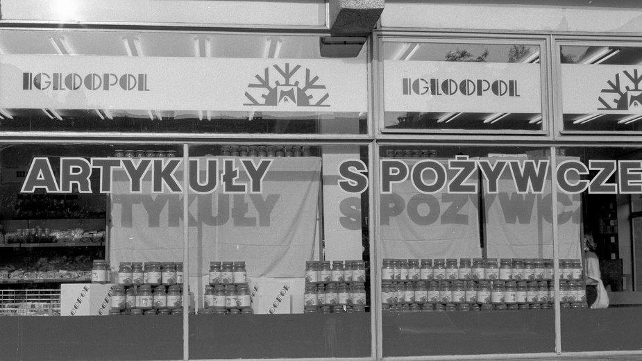 Sklep firmowy Igloopol, Warszawa 1989 r.