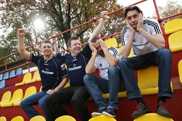 Prvi tim Arene sport: Nenad Milovanović; Miloš Milićević, Ivan Radulović, Saša Rakić Bajinović