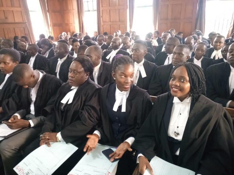 144 lawyers were enrolled as Advocates of the High Court on Wednesday (Photo by Kakumirizi)