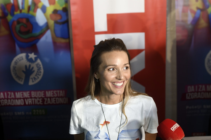 Jelena Đoković Novi Sad 506 Dusan Kovacevic Jelena Djokovic potpisivanje saradnja za deciji vrtic na ceneju exit dan 3 foto Robert Getel