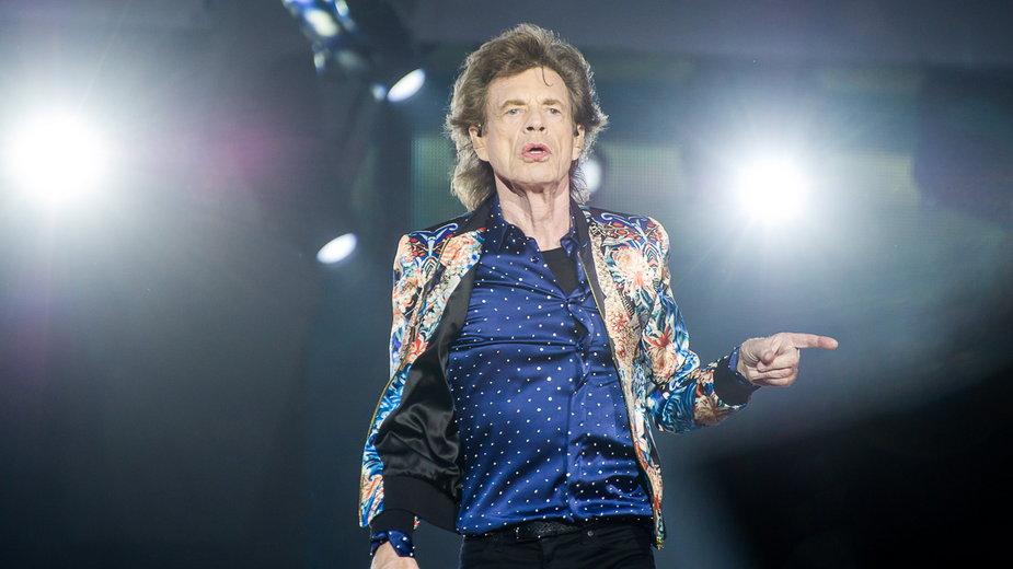The Rolling Stones podczas koncertu w Warszawie