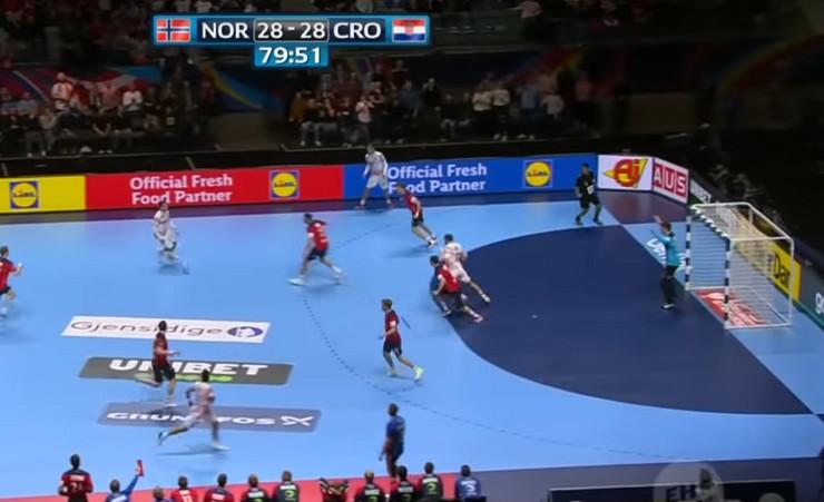 Sporan detalj iz polufinala Evropskog prvenstva