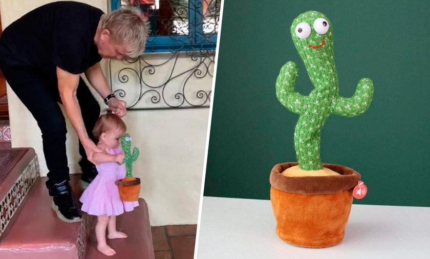 Billy Idol bawi się z wnuczką śpiewającym kaktusem