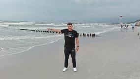 Sebastian Karaś przepłynął wpław z Kołobrzegu na wyspę Bornholm