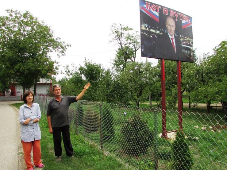 Vjera Komljenovic i Dusan Lazarevic Putinovo selo foto Milan Pilipovic