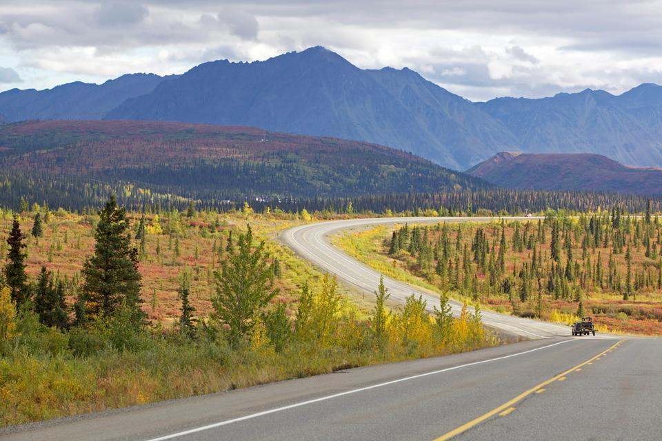 Autostrada Denali została otwarta w 1957 roku i była pierwszą drogą umożliwiającą dostęp do Parku Narodowego Denali na Alasce. Droga jest głównie żwirowa i prowadzi przez lasy po zboczach Alaska Range, oferując przepiękne widoki dziewiczej puszczy.