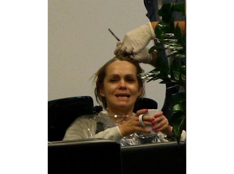 Weronika Marczuk może czuć się swobodnie u zaprzyjaźnionego fryzjera.