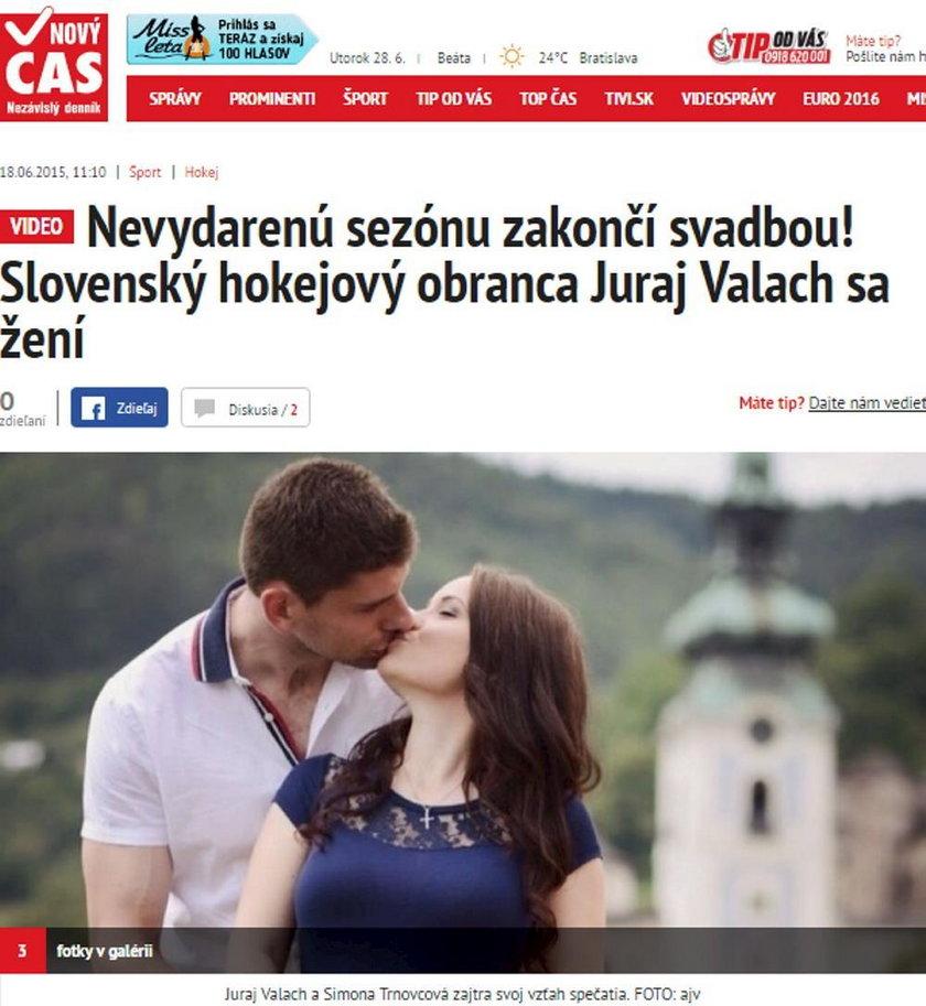 Dramat słowackiego hokeisty