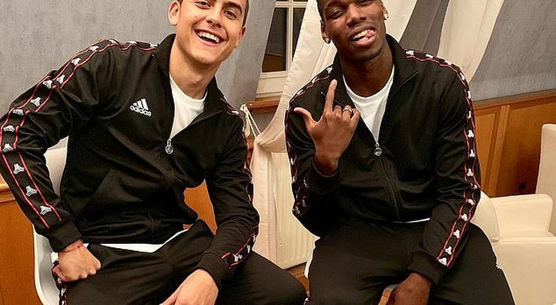 Paul Pogba hangs out with Juventus star Dybala as his agents explore move back to former club