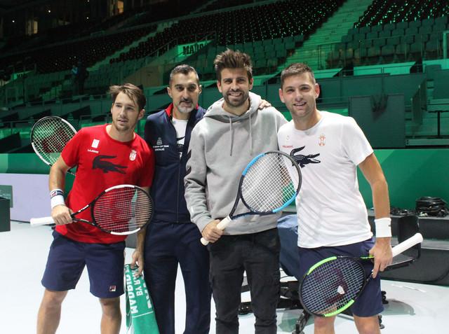 Đerar Pike i teniska reprezentacija Srbije
