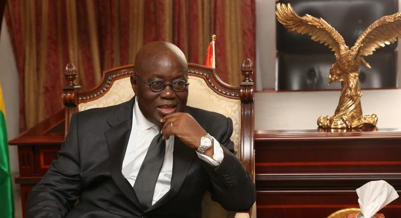 Ghana's president Nana Addo Dankwa Akufo-Addo