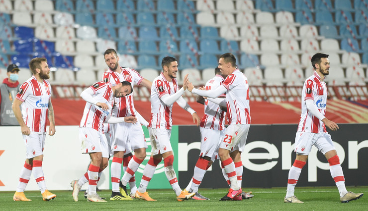 Detalj sa meča FK Crvena zvezda - Slovan Liberec