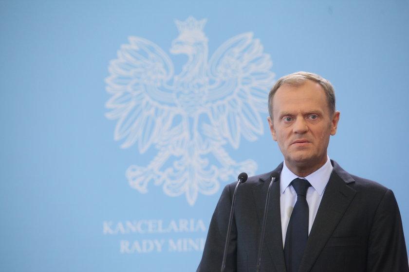 Donald Tusk (57 l.), premier i szef PO