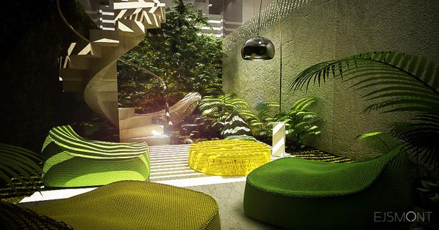 Betonowy dom z wewnętrznym patio - projekt Ejsmont