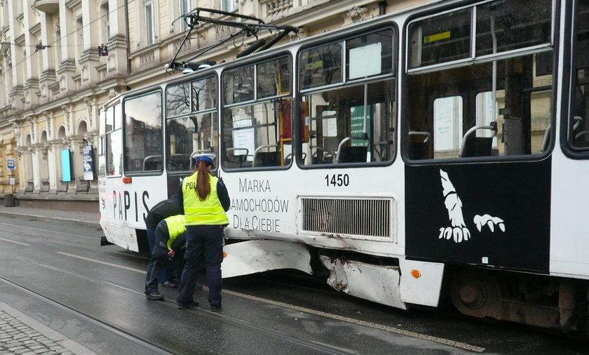 Wypadek na Zielonej przy Wólczańskiej w Łodzi