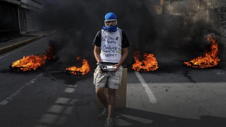 VENEZUELA CRISIS (Security forces break up opposition march in Caracas)