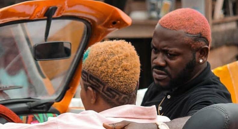 Deyemi Okanlawon on the set of 'Omo Ghetto: The Saga' [Instagram/@deyemitheactor]