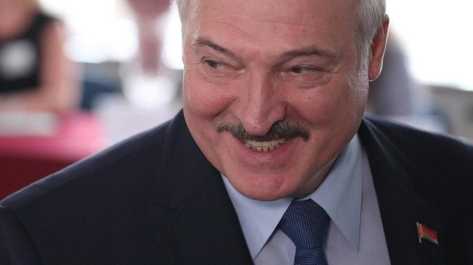 Prezydent Białorusi w momencie oddawania głosu wyborczego, 9.08.2020 r.