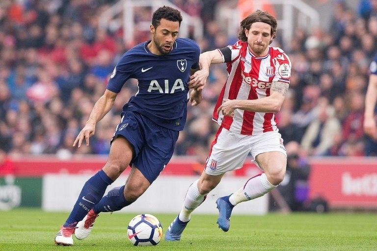 Joe Allen (R, pictured April 2018) made it two on the hour mark to extend Stoke's unbeaten league run to eight games