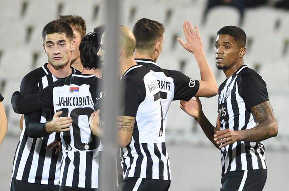 Fudbaleri Partizana slave pogodak protiv Vojvodine