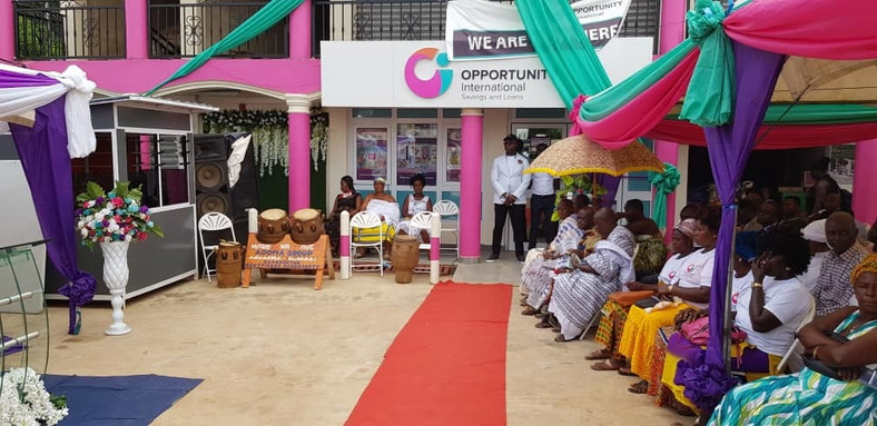 Ceremony to open new branch of Opportunity International Savings and Loans