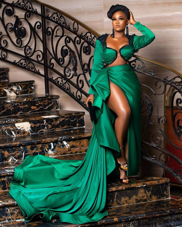 #AMVCA7: All the celebrities that wore green outfits at the event [Instagram/ Cynthia Nwadiora]