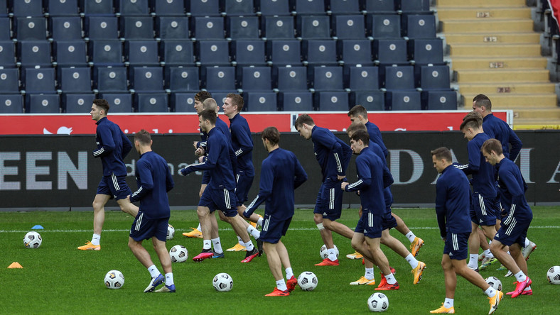 Trening piłkarzy reprezentacji Rosji przed meczem z Turcją w listopadzie 2014 r.