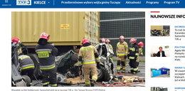 Koszmarny wypadek w Kielcach! Tiry zmiażdżyły osobówkę