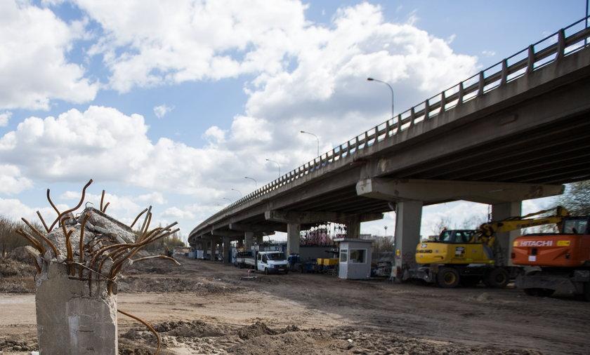 Wyburzony wiadukt w Poznaniu