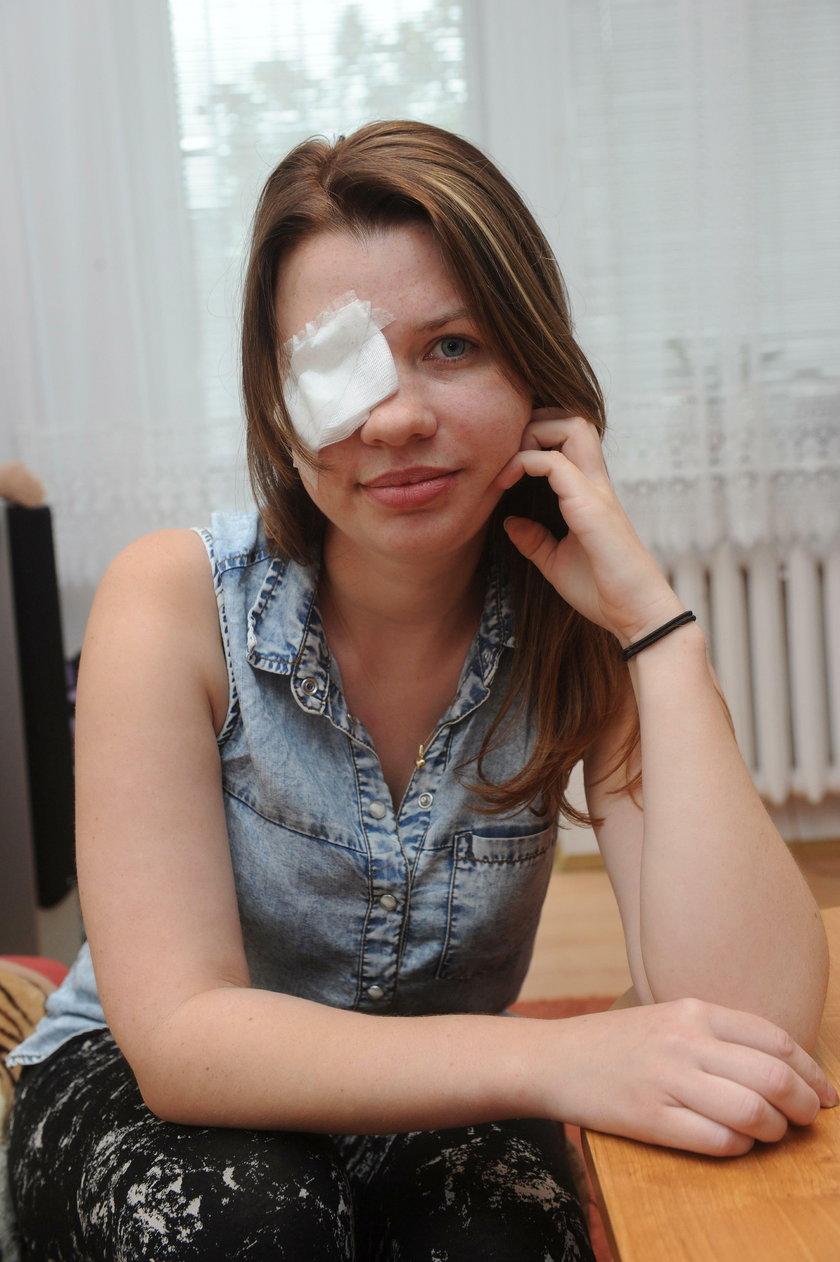 Straciła oko